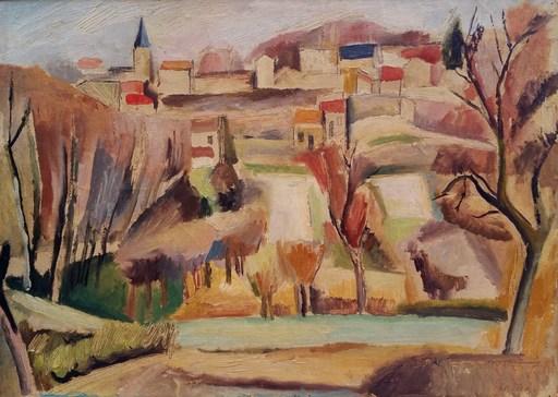 Gaston Louis ROUX - Painting - Le village