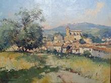 Tony CARDELLA - Painting - Village de TIGANIERE