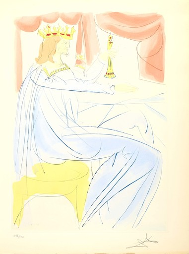 """Salvador DALI - Druckgrafik-Multiple - King Solomon, from the Cycle: """"Our Historical Heritage"""""""