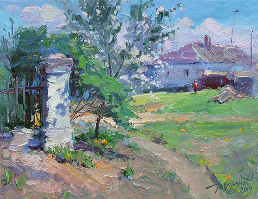Yuriy DEMIYANOV - Gemälde - Derrière la Barrière de Mai