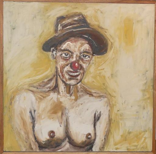 Philippe PASQUA - Peinture - La femme clown