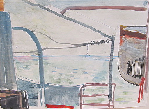Paul MECHLEN - Drawing-Watercolor - Fensterblick.