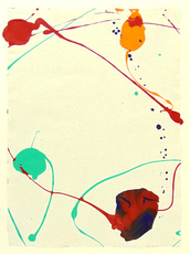山姆•弗朗西斯 - 绘画 - Untitled SF87-071 (Acrylic)