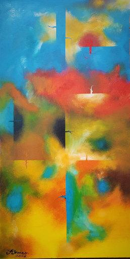 Romeo DOBROTA - Painting - Transcending Love, Acrylic on canvas, 20x40 inch, SKU 1176