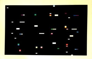 Yaacov AGAM - Stampa-Multiplo - Composition with Black backround