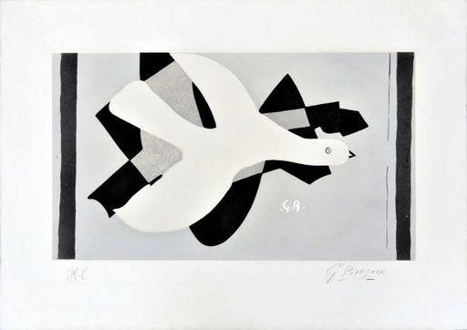 Georges BRAQUE - Grabado - L'oiseau et son ombre III