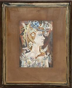 René PORTOCARRERO - Painting - Perfil des Flora