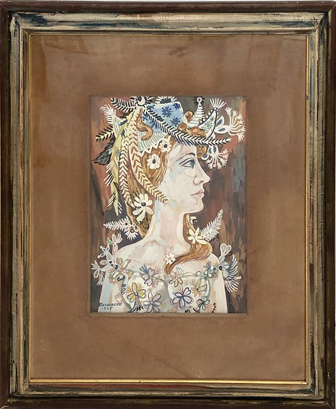 René PORTOCARRERO - Painting - Perfil