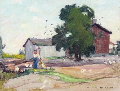 Bernice Fenwick MARTIN - Peinture - Barnyard Flutter