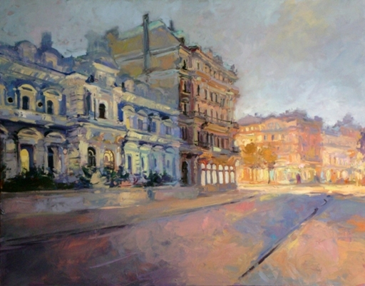 Alise MEDINA - Pintura - City in an unusual light