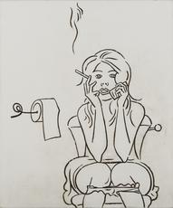 Ruslan VASHKEVICH - 绘画 - Toilet Room