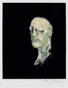 Francis BACON, Study of Portrait after the life mask of William Blake