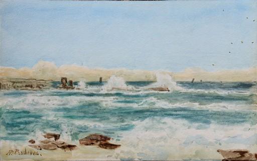 """Hippolyte PRADELLES - Drawing-Watercolor - """"LA BAIE DE SAINT-JEAN DE LUZ"""""""