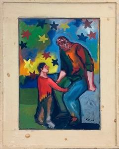 Sandro CHIA - Painting - Conversazione filosofica