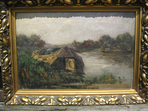 Jan SCHREUDER VAN DE COOLWIJK - Pintura - Haus am See