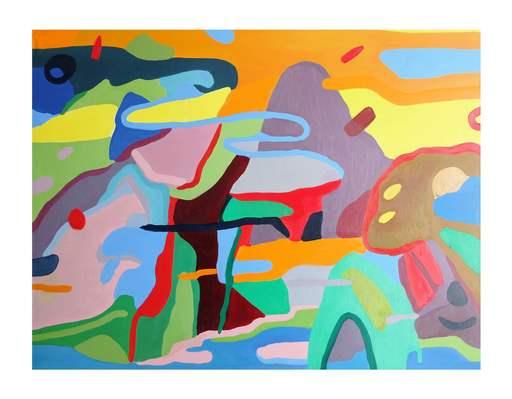 Sébastien COUEFFIC - Peinture - Grand Paysage lacustre