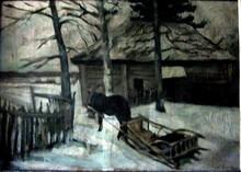 Konstantin A. KOROVIN - Pintura - Winter
