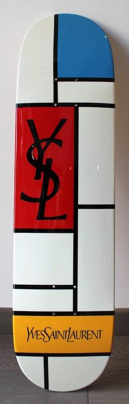 Ian PHILIP - Pittura - Skate Mondrian YSL