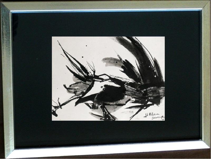Juan RIBERA BERENGUER - Peinture - Black abstraction II