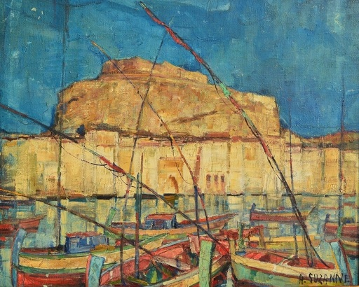 André SUZANNE - Pintura - port de Menton