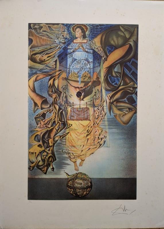 "Salvador DALI - Estampe-Multiple - ""Stigmates"""