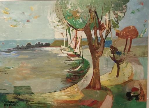 Suzanne BERTHET - Peinture - Segelboote an der Küste