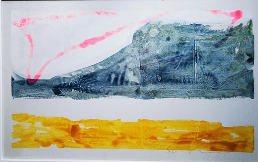 Mario SCHIFANO - Pintura - Paesaggio anemico