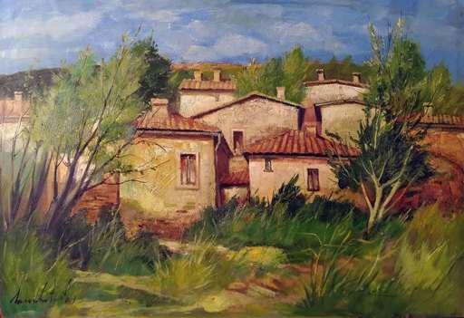 Lamberto LAMBERTI - Painting - Vecchio cascinale