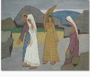 Samuel SCHLESINGER - Painting - Four women