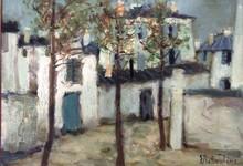 Eugène BABOULENE - Painting - Rue à Montmartre