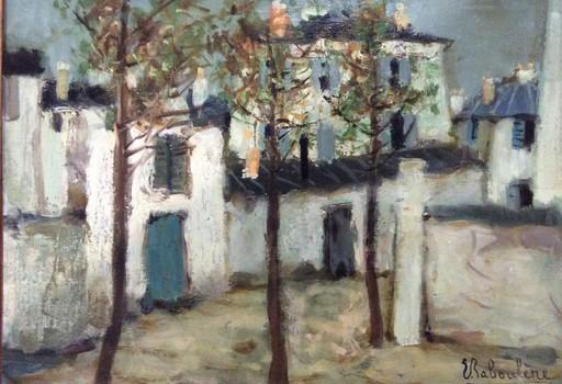 Eugène BABOULENE - Peinture - Rue à Montmartre