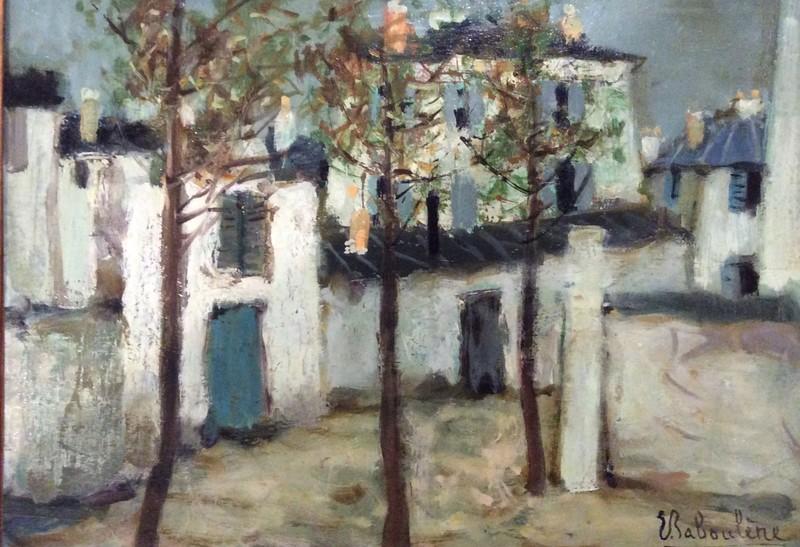 Eugène BABOULENE - Pittura - Rue à Montmartre