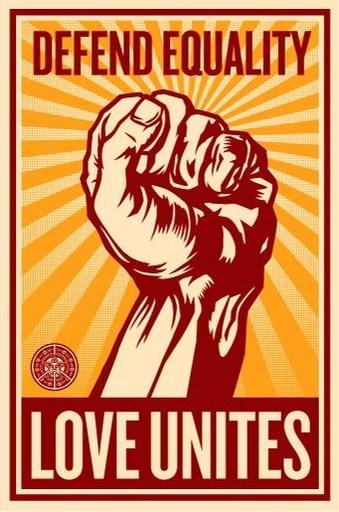 "谢帕德·费瑞 - 版画 - ""Love unites"""