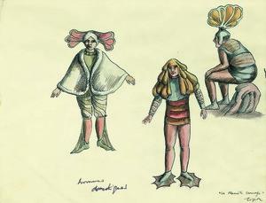 Roland TOPOR - Drawing-Watercolor - Hommes domestiques