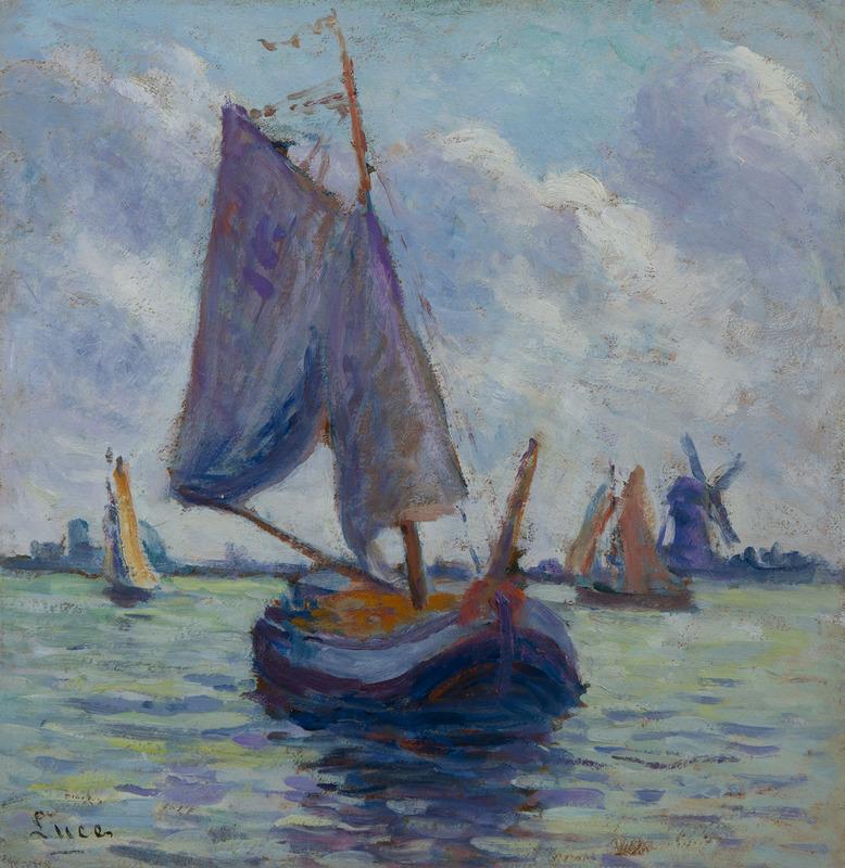 Maximilien LUCE - Painting - Bateaux hollandais