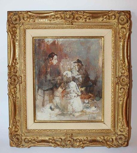 Jean JANSEM - Painting - Conversation