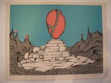 """Félix LABISSE - Estampe-Multiple - """"Le Monument"""" 1975"""