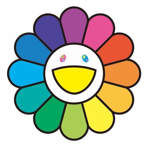 Takashi MURAKAMI - Grabado - Rainbow Flower