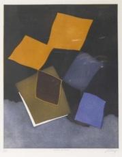 Bertrand DORNY - Grabado - Chateau de cartes