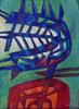 Raul ENMANUEL - Pintura - Formas en rojo y azul II