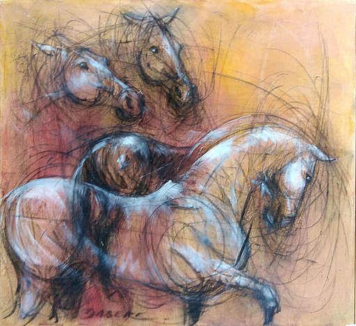 Pascal DABÈRE - Gemälde - Flamme