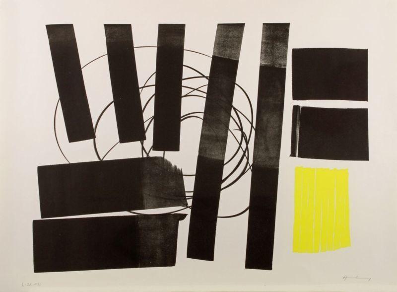 Hans HARTUNG - Print-Multiple - L 1973-31 Hommage à Picasso
