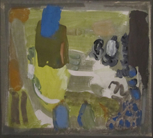 Chafik ABBOUD - Painting - Untitled (Composition)