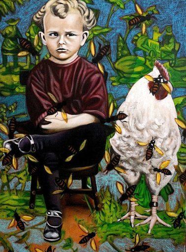 Karem ARRIETA - Painting - « Sans-titre »