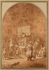 Cornelis DUSART - Drawing-Watercolor - Le charlatan