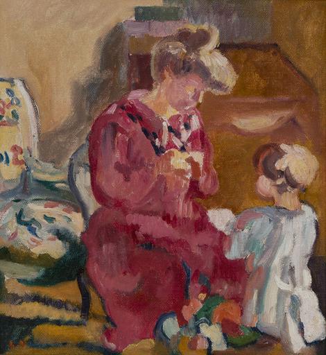 Louis VALTAT - Peinture - Suzanne et Jean enfant