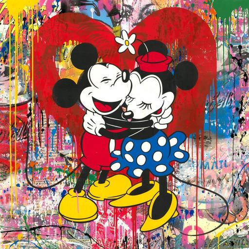 MR BRAINWASH - Painting - MICKEY MINNIE