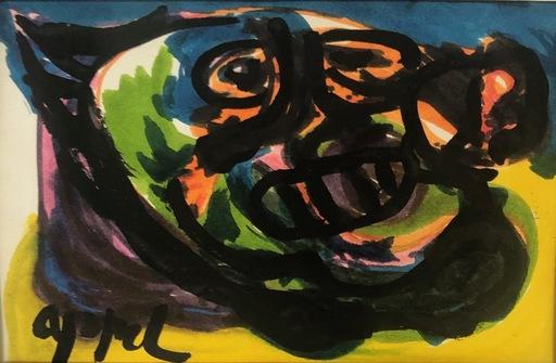 Karel APPEL - Dibujo Acuarela - Untitled