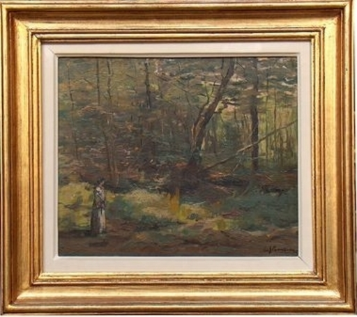 Eustache Grégoire STOENESCO - Gemälde - FEMEIE IN CRANG