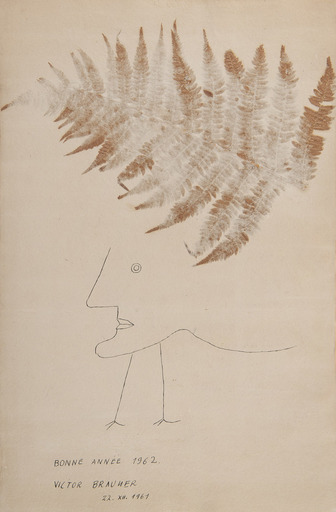 Victor BRAUNER - Drawing-Watercolor - Bonne année